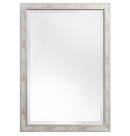 Rimini Grande - Landelijkse Spiegel met White Wash-Look - Grijs Kleur