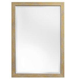 Rimini Grande - spiegel met geel-gouden lijst met zilver