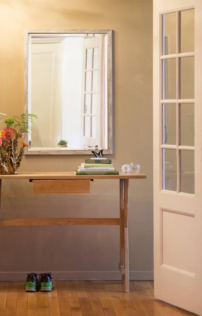 Rimini - Smalle Landelijkse Spiegel met White Wash-Look - Grijs Kleur