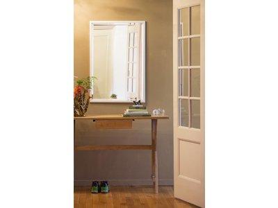Levie betaalbare spiegel met smalle witte lijst