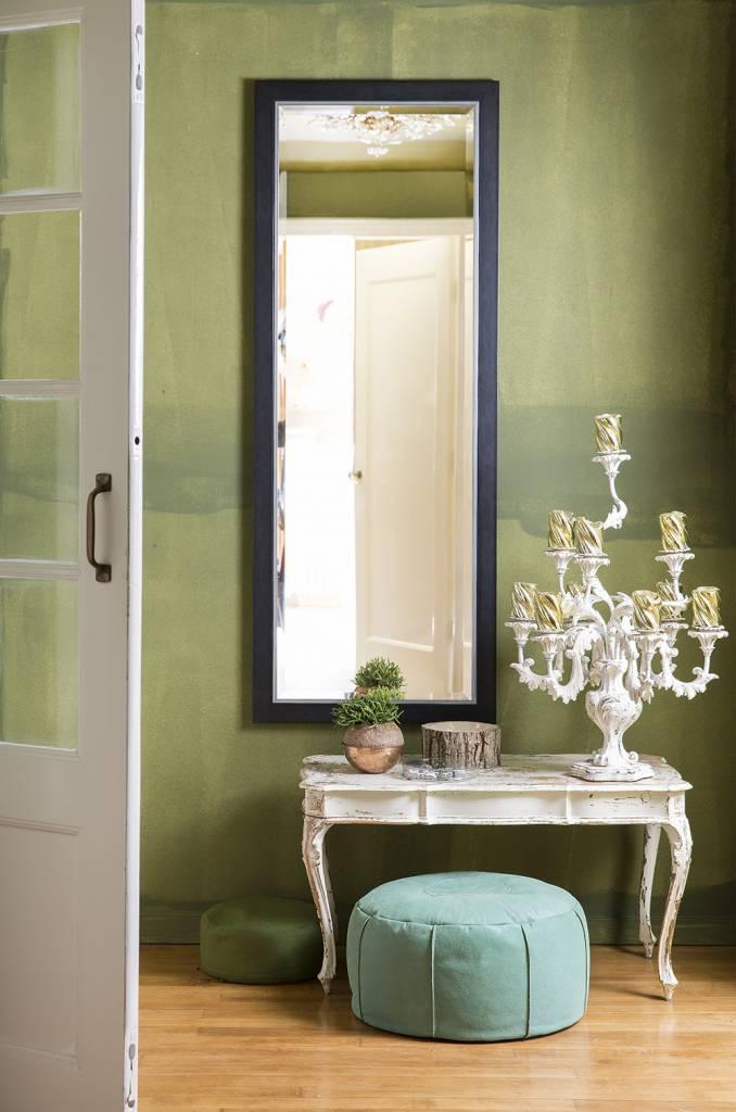 Modena spiegel met luxe zwart zilveren lijst - Huis modena ...