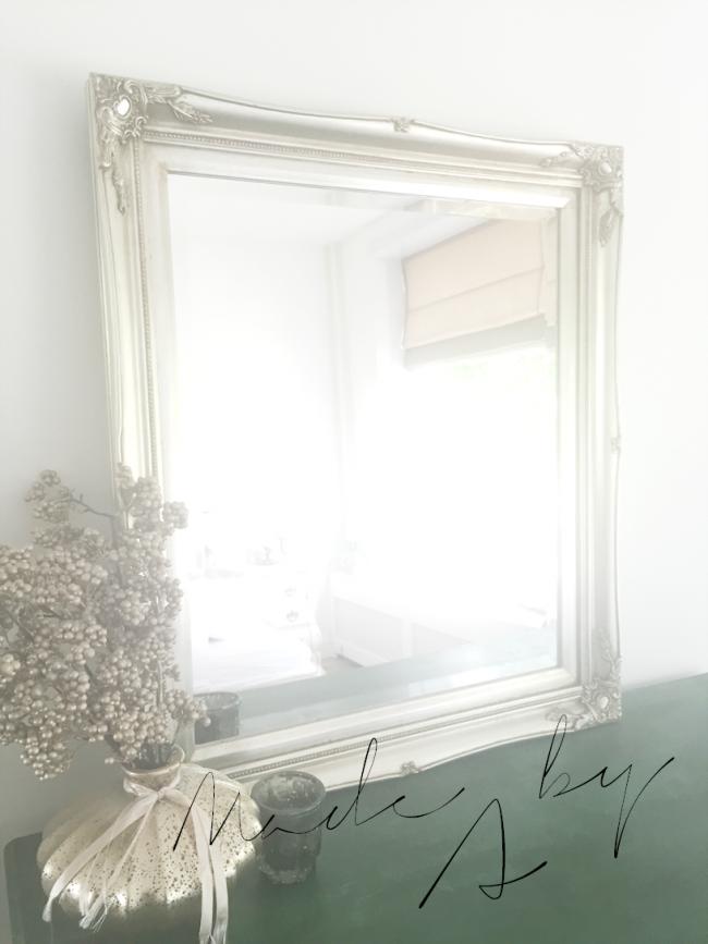 Verona spiegel met klassieke zilveren lijst