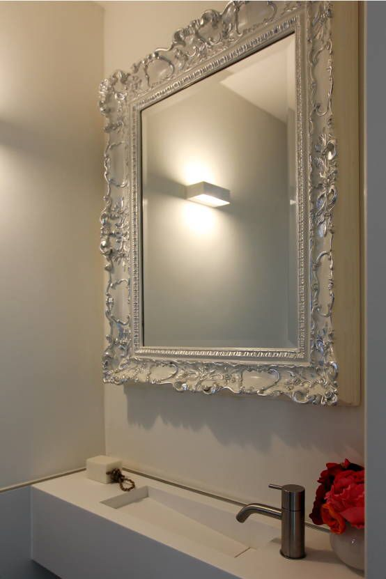 Geef je badkamer sfeer met een barok spiegel - Spiegel voor ingang ...