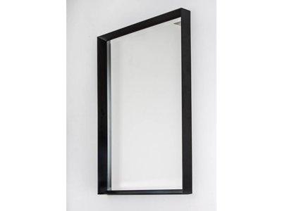 Spiegel Zwarte Lijst : Corsica grande spiegel zwart kunstspiegel