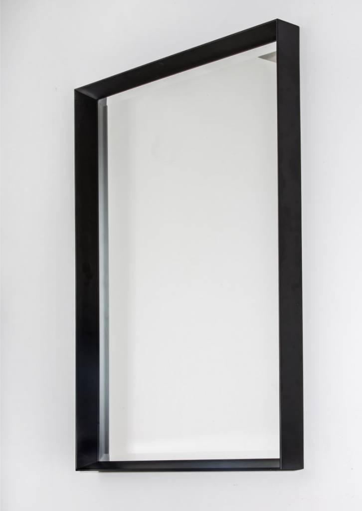 Moderne Spiegel corsica grande diepe moderne spiegel zwart gekleurd frame