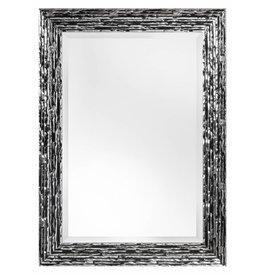 Toscane - Zwart zilveren designspiegel