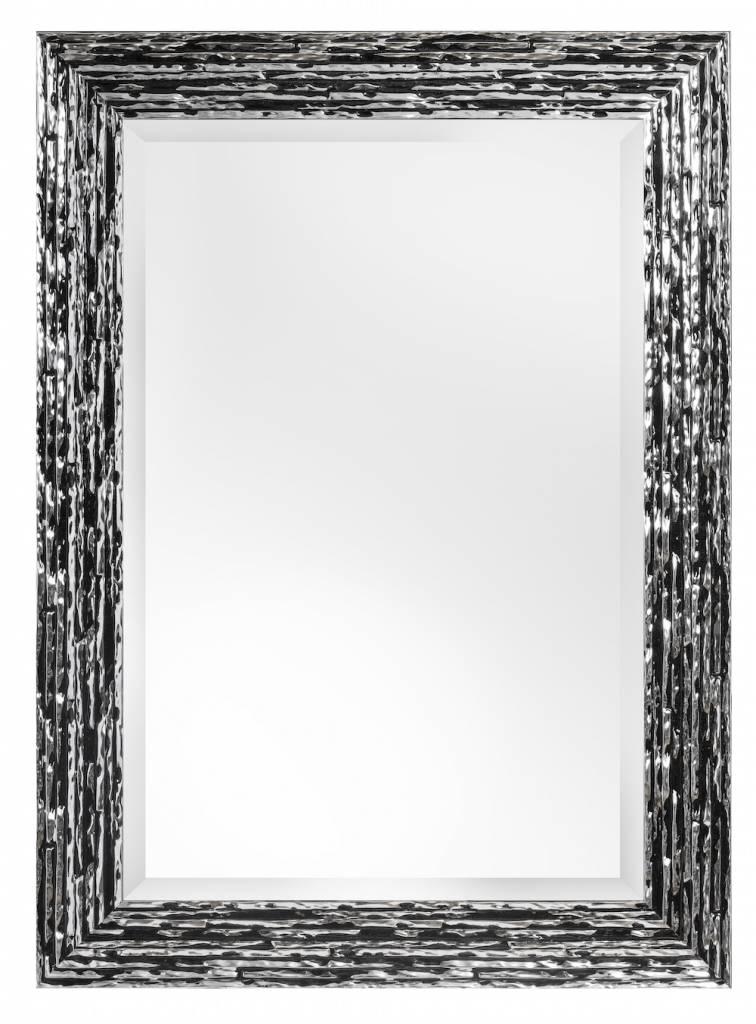 Toscane - spiegel - zwart/zilver