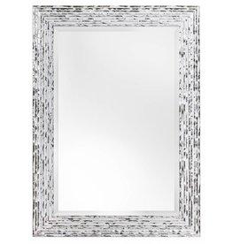 Toscane - Wit zilveren designspiegel