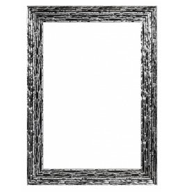 Toscane - Zwart zilveren designlijst