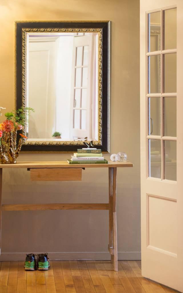 forli spiegel met donker bruine lijst lichte rand. Black Bedroom Furniture Sets. Home Design Ideas