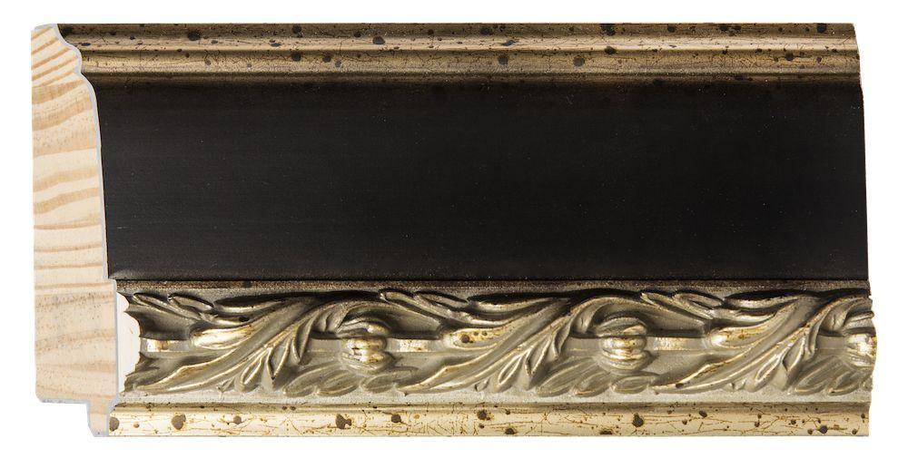 Forli - spiegel - donkerbruin/goud