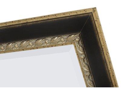 Forli - spiegel met donker bruine lijst (lichte rand)