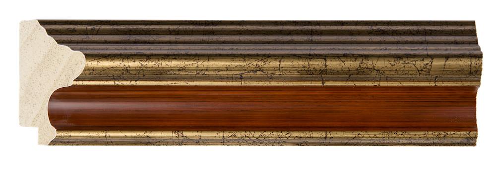 Loano - spiegel met geweldige goud oranje lijst