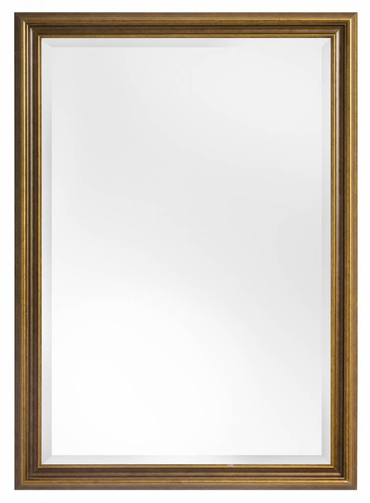 Asti spiegel met gouden houten lijst for Houten spiegel