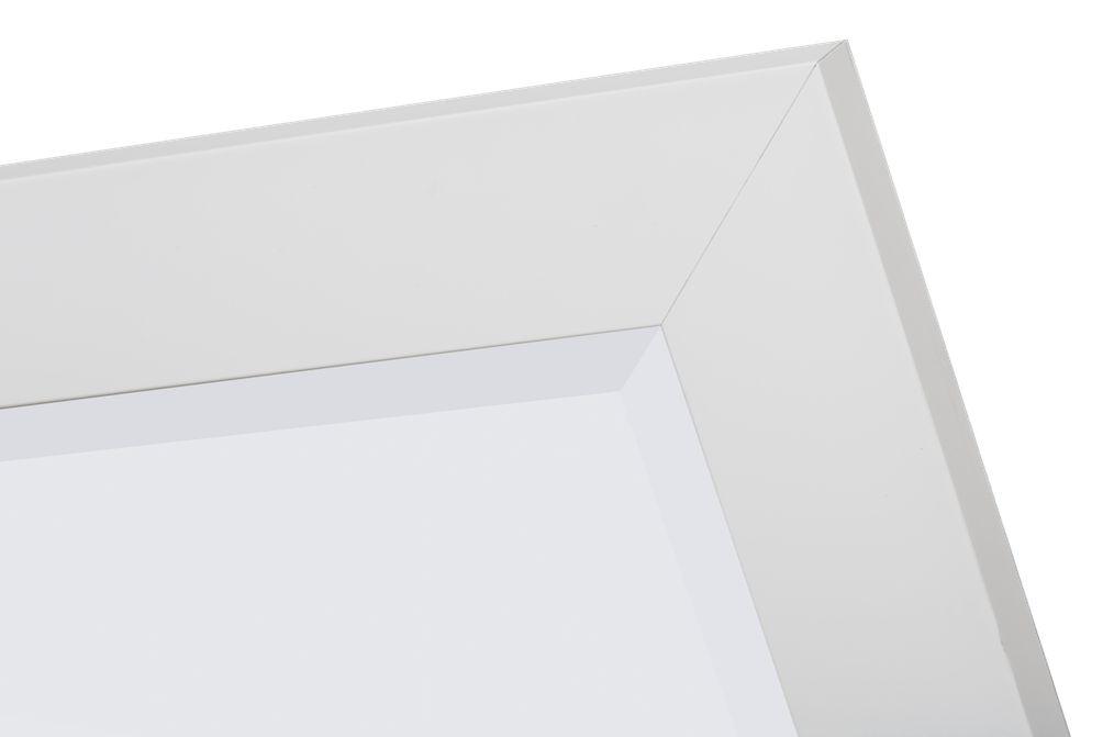 Milano moderne spiegel met brede witte lijst