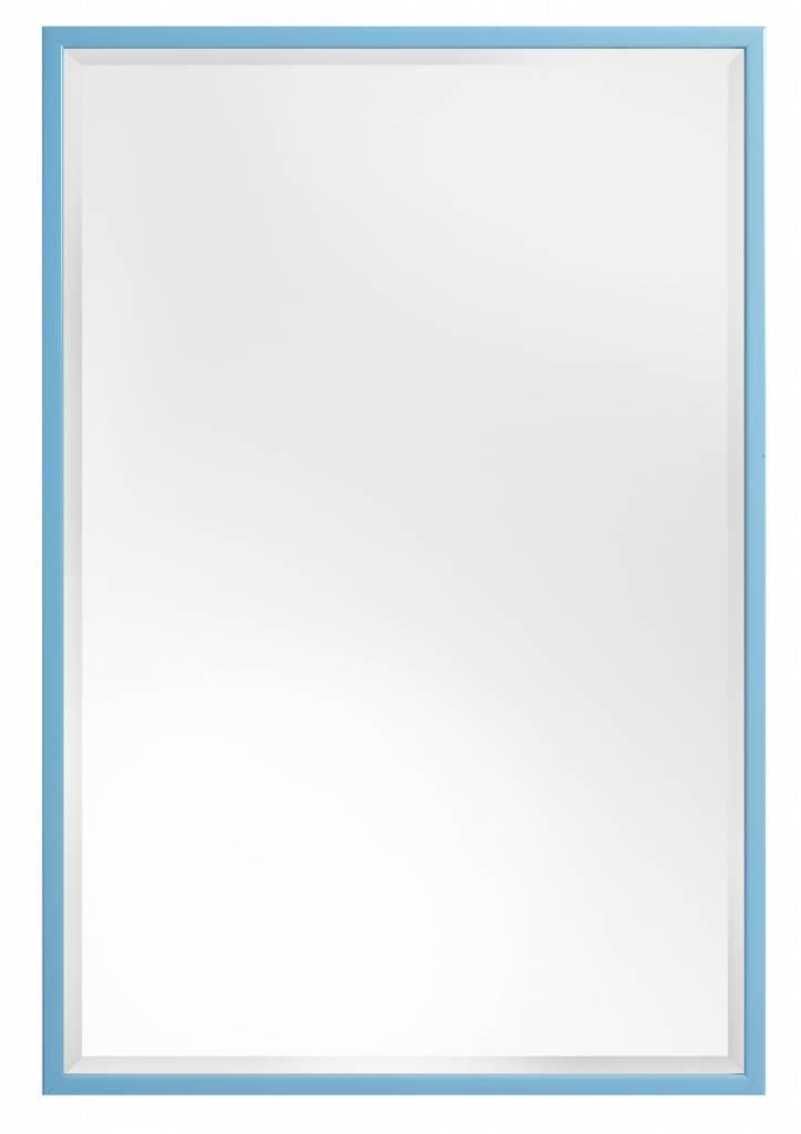 Levie betaalbare spiegel met smalle blauwe lijst