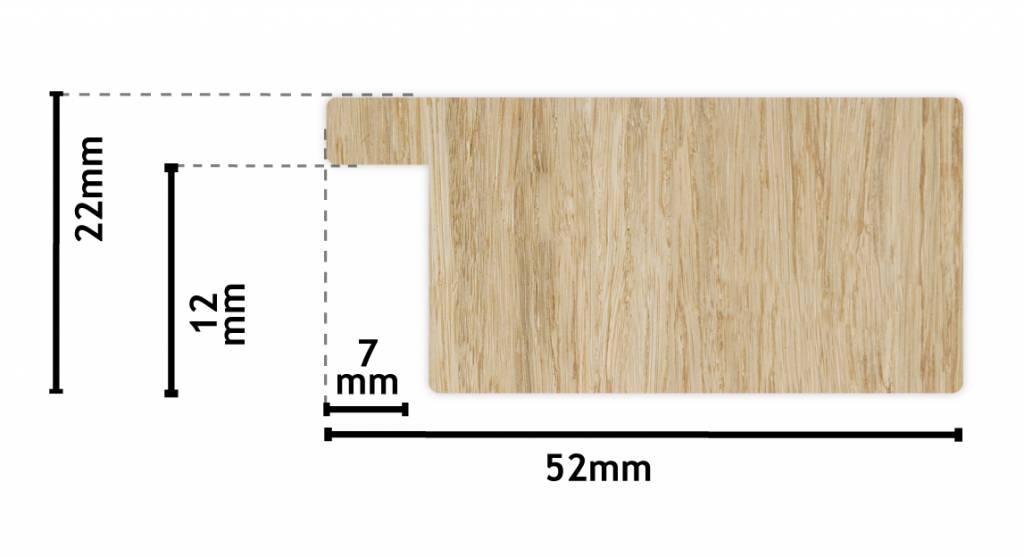 Lecce - spiegel - teak hout