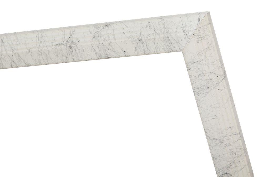Trento - Smalle Luxe Porselein-Look Lijst - Gelakt Wit
