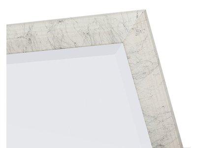 Trento - spiegel met witte lijst met zwarte lijnen