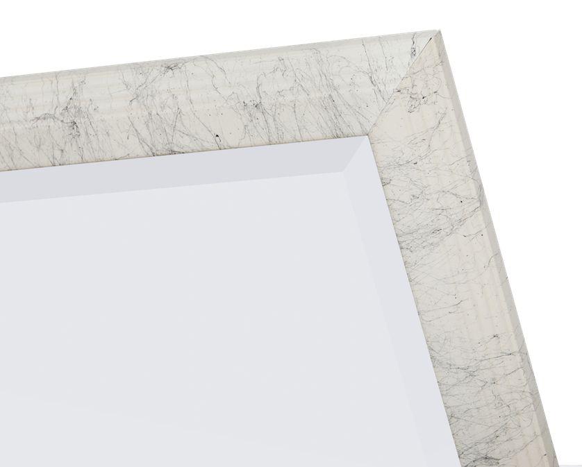 Trento - Smalle Luxe Porselein-Look Spiegel - Gelakt Wit