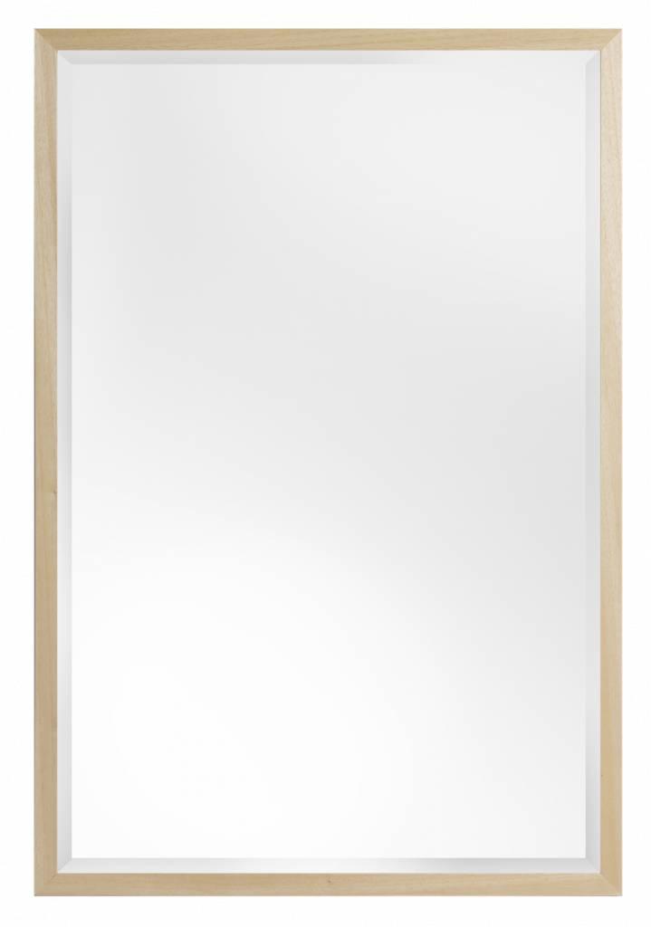 Oslo - Eenvoudige Moderne Spiegel met Smalle Rand - Houtkleur