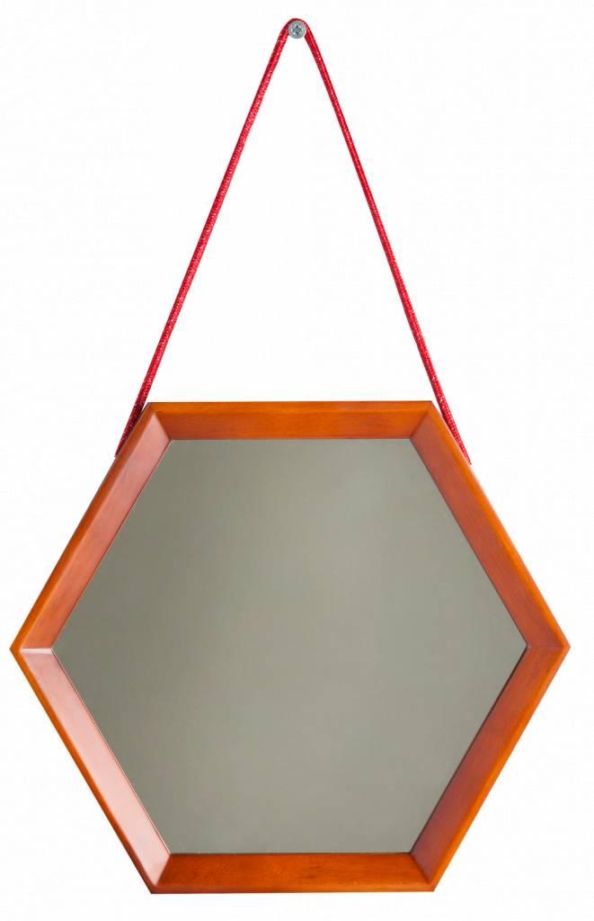 Lazio - hexagon spiegel