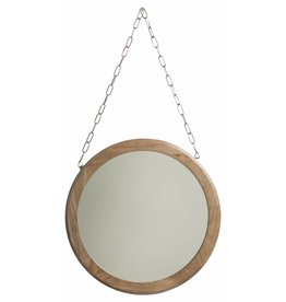 Apulia - ronde spiegel - hout