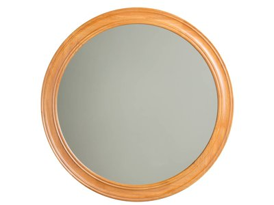 Basilicata - ronde spiegel - hout