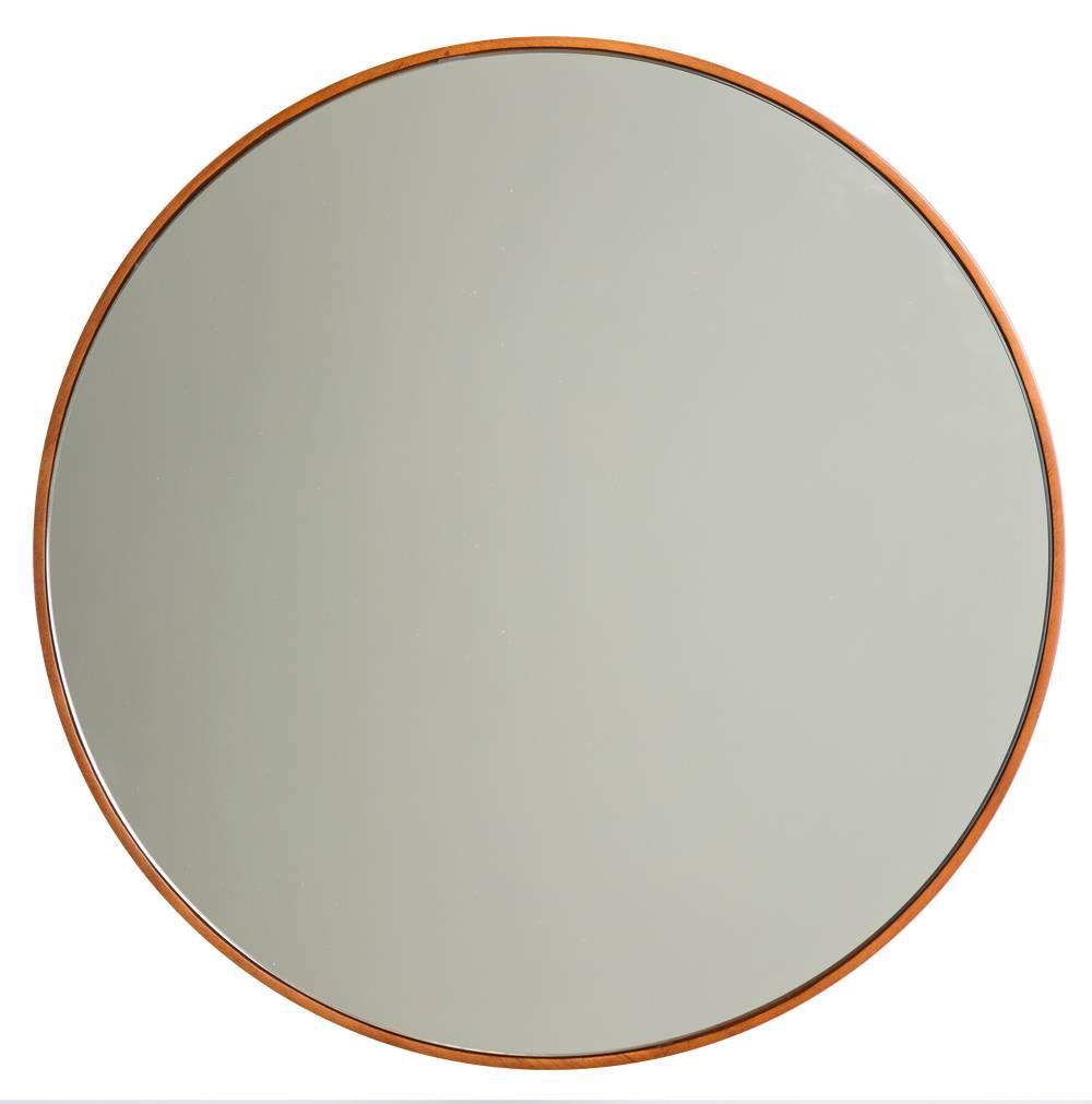 calabria ronde spiegel met smalle houten lijst. Black Bedroom Furniture Sets. Home Design Ideas
