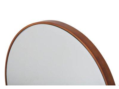 Calabria - ronde spiegel met smalle houten lijst