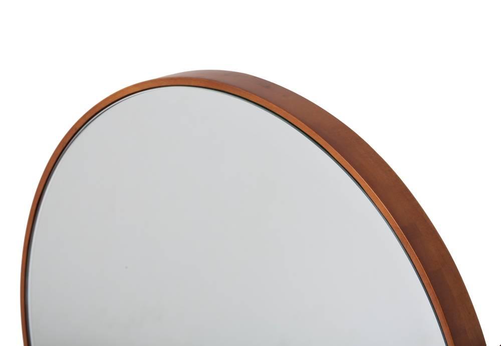 Ronde Zwarte Spiegel : Calabria smalle ronde spiegel bruin gekleurd frame kunstspiegel