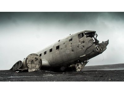 Broken plane by Blair Fraser