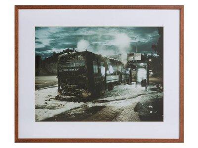 Bus fire by Hans Eiskonen