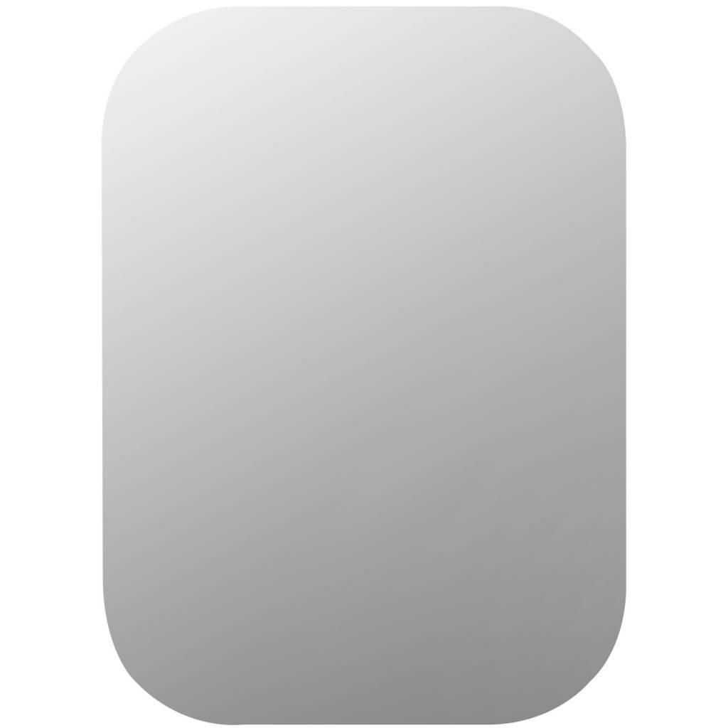 Spiegel met ronde hoeken zonder lijst