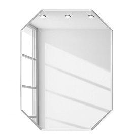 Spiegel met ronde hoeken zonder lijst vele maten for Spiegels zonder lijst