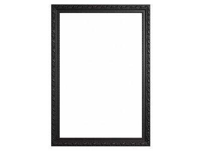 Bonalino - Barok Lijst met Bladpatroon - Zwart Gekleurd