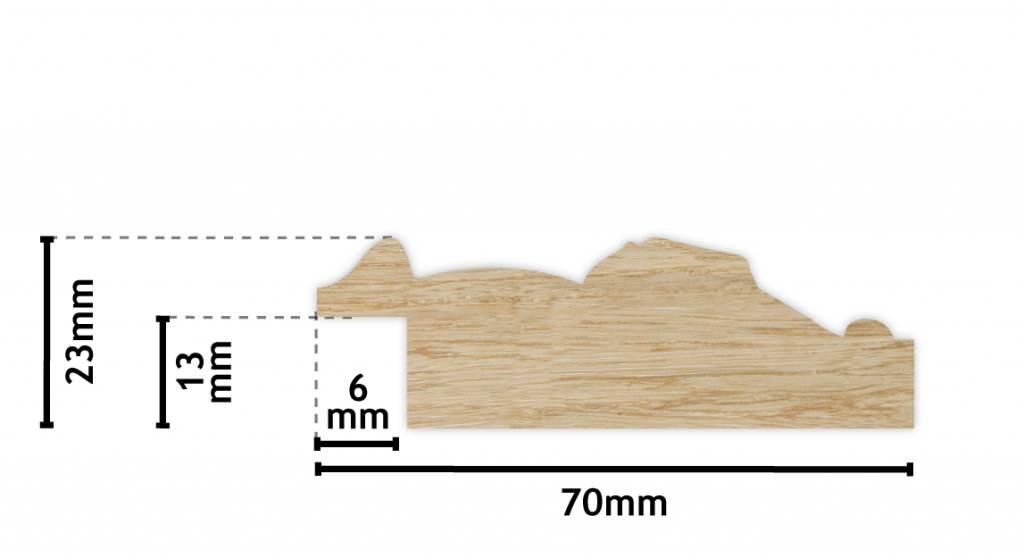 Palmi klassieke zwarte lijst van hout