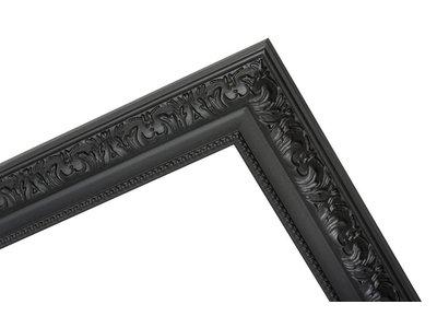 Palmi - Barok Lijst - Zwart Gekleurd Frame