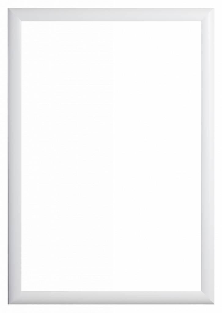 Augusta - Moderne Bolle Lijst- Wit Gekleurd