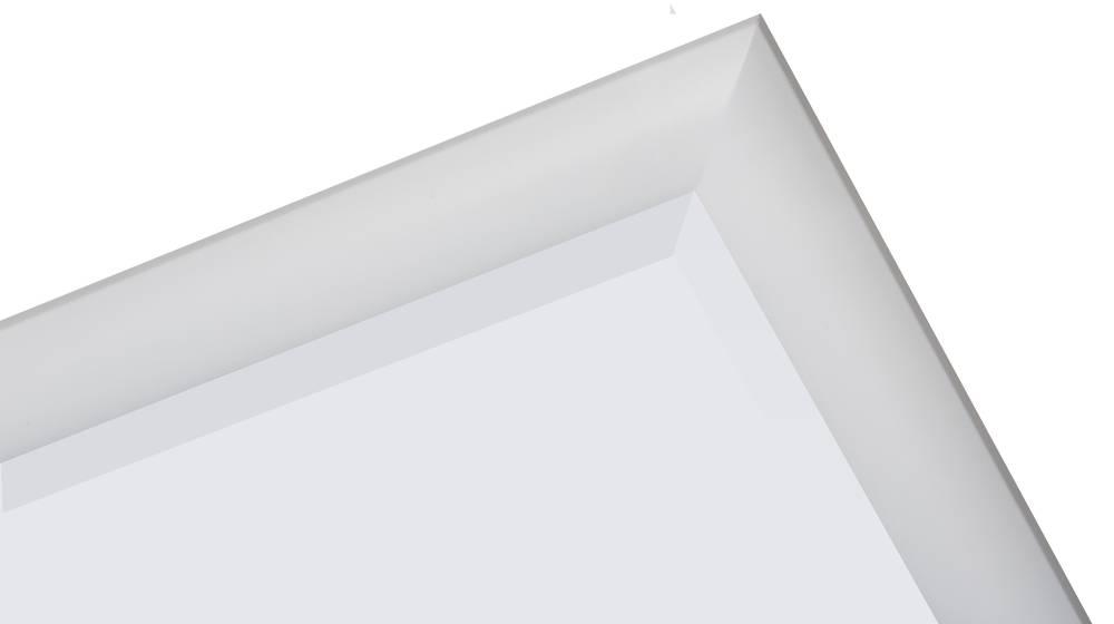 Augusta - Moderne Spiegel met Bolle Rand - Kleur Wit