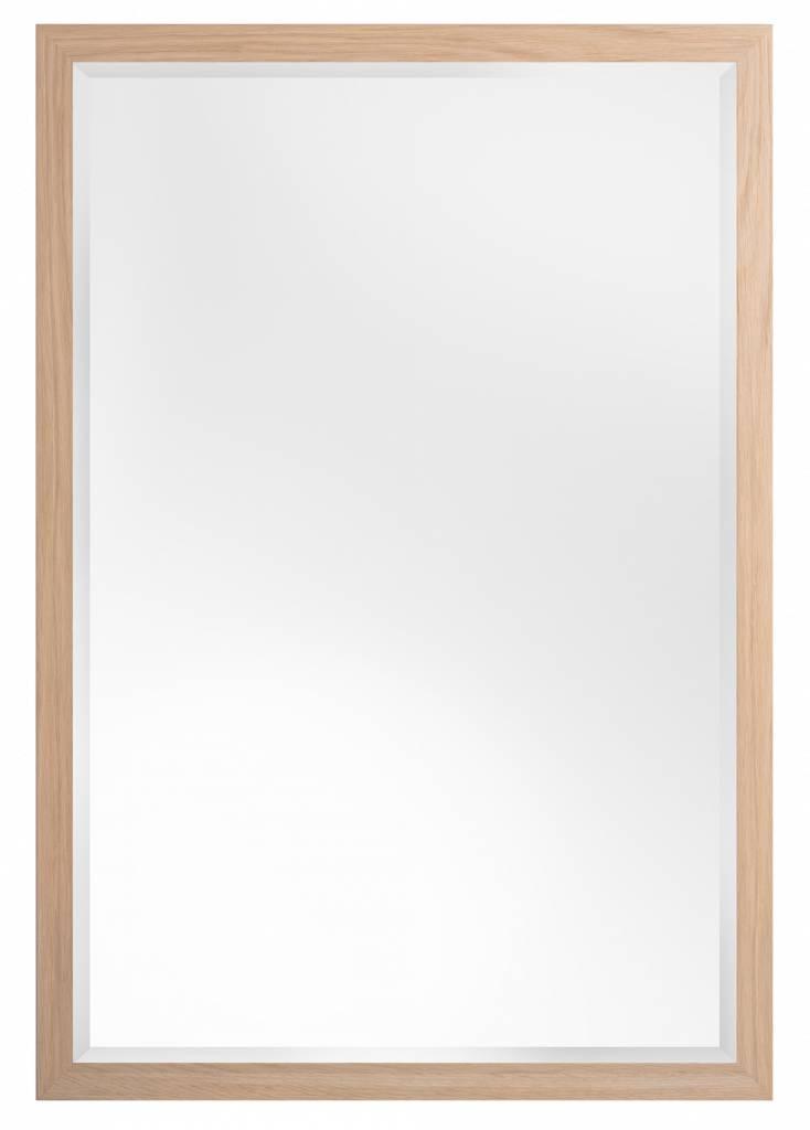 Sardinia Piccolo – spiegel – licht hout kopen Spiegels > Spiegels op maat > Muurspiegel? Dat doe je hier snel en voordelig – snel in huis bezorgd