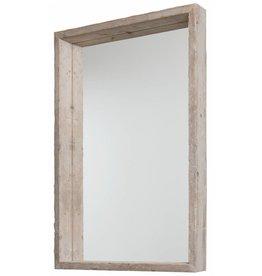 Wood - spiegel met gebruikte steigerhouten baklijst