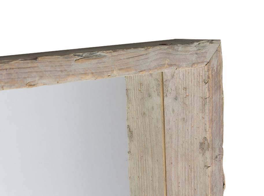 Bakspiegel met steigerhouten lijst