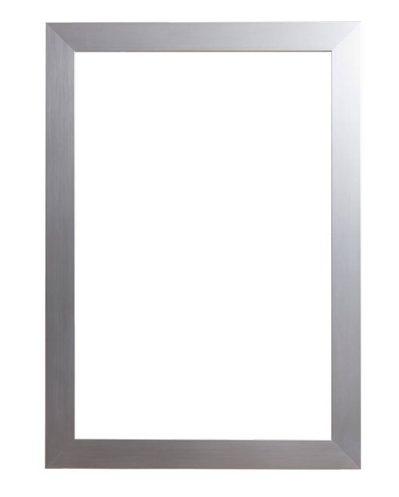 Bettola - brede moderne lijst in het zilver