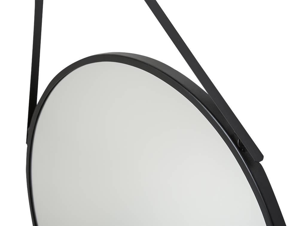 Ronde Zwarte Spiegel : San francisco ronde hangspiegel zwart gekleurd met draaghengsel