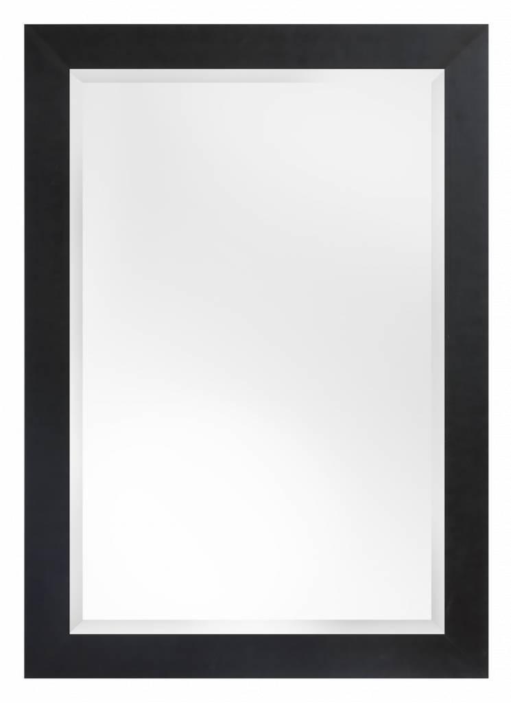 Milano spiegel met stoere brede lijst kleur zwart for Spiegel zwarte lijst