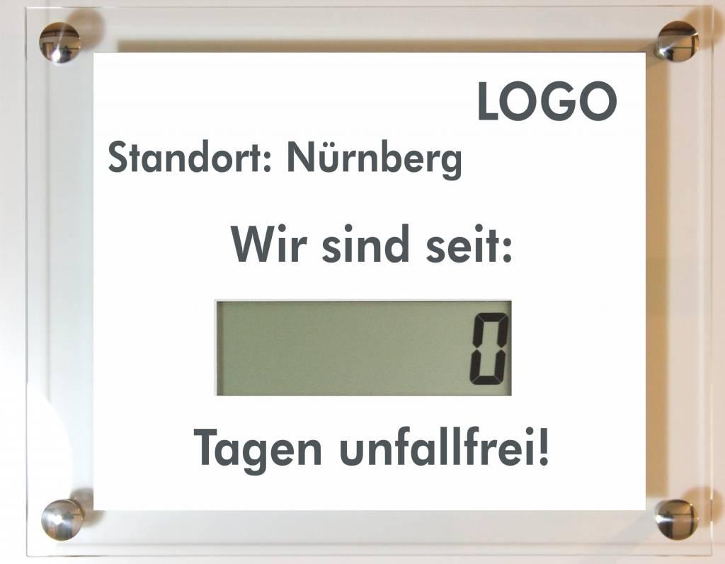Unfallfreie Tage LCD Großanzeige - RiCo Electronic Design Online Shop