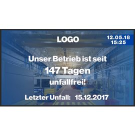 """GA-LCD Monitor Set 43"""" Unfallfreie Tage"""