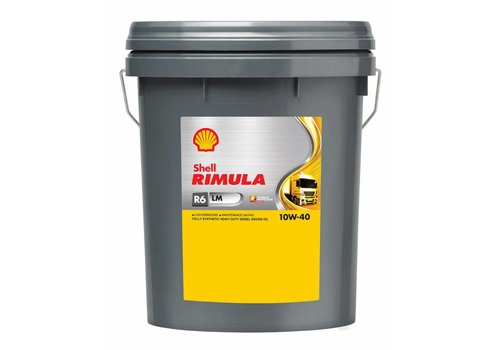 Shell RIMULA R6 LM 10W40 - heavy duty engine olie, 20 ltr
