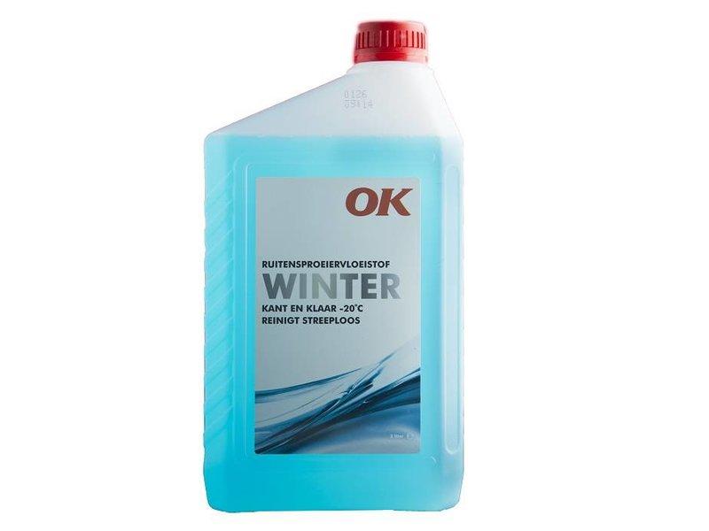 OK Olie Ruitensproeiervloeistof Winter, flacon 2 ltr